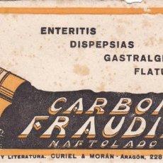 Colecionismo Mata-borrão: PAPEL SECANTE PUBLICIDAD CARBON FRAUDIN VER FOTO ADICIONAL. Lote 204254387