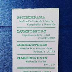 Coleccionismo Papel secante: SECANTE, FARMACIA, LABORATORIOS IBERIA, MADRID.. Lote 204317465
