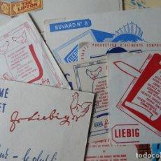 Coleccionismo Papel secante: 15 SECANTES ANTIGUOS (14 FRANCESES Y 1 ESPAÑOL - TEMA: ALIMENTACIÓN - THÉ LIPTON - LIEBIG - CHOCOLAT. Lote 205246468