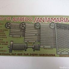 Coleccionismo Papel secante: BARCELONA. HIJOS DE ALFREDO SANTAMARIA. SECANTE. SIN USO. Lote 208191461