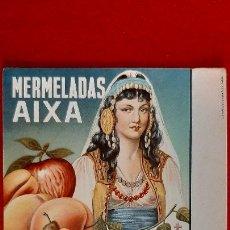 Collezionismo Carta assorbente: PAPEL SECANTE PUBLICIDAD MERMELADAS AIXA ALICANTE ORIGINAL SJ10. Lote 208755878
