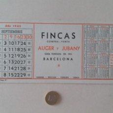 Coleccionismo Papel secante: PAPEL SECANTE PUBLICIDAD DE FINCAS AUGER Y JUBANY. SEPTIEMBRE 1963. SIN USAR.. Lote 211391481