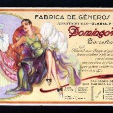 Coleccionismo Papel secante: SECANTE DE LA FABRICA DE GENEROS DE PUNTO DOMINGO HOSPITAL DE BARCELONA. ILUSTRADO POR C.VIVES. Lote 211405976