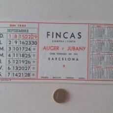Coleccionismo Papel secante: PAPEL SECANTE PUBLICIDAD DE FINCAS AUGER Y JUBANY. SEPTIEMBRE 1963. SIN USAR.. Lote 211422386