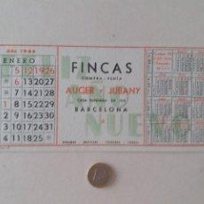 Coleccionismo Papel secante: PAPEL SECANTE PUBLICIDAD DE FINCAS AUGER Y JUBANY. ENERO 1964. SIN USAR.. Lote 211422684