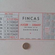 Coleccionismo Papel secante: PAPEL SECANTE PUBLICIDAD DE FINCAS AUGER Y JUBANY. JULIO 1964. SIN USAR.. Lote 211422816