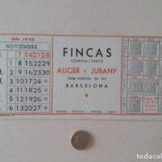 Coleccionismo Papel secante: PAPEL SECANTE PUBLICIDAD DE FINCAS AUGER Y JUBANY. NOVIEMBRE 1965. SIN USAR.. Lote 211423114