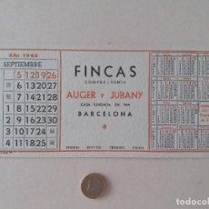 Coleccionismo Papel secante: PAPEL SECANTE PUBLICIDAD DE FINCAS AUGER Y JUBANY. SEPTIEMBRE 1965. SIN USAR.. Lote 211423189