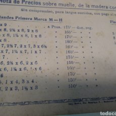 """Coleccionismo Papel secante: NOTA DE PREVIAS SOBRE MUELLE, DE LA MADERA CONDUCIDA POR EL VAPOR """"GOTHIRU - PAPEL SECANTE -. Lote 211728979"""