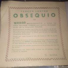 Coleccionismo Papel secante: CURIOSO PUBLICIDAD SORTEO ¿PAPEL SECANTE?. Lote 213508457