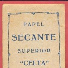 Coleccionismo Papel secante: BLOCK DE PAPEL SECANTE SUPERIOR CELTA 12 HOJAS, VER TEXTO Y FOTOS. Lote 214366147