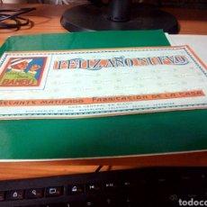 Coleccionismo Papel secante: ANTIGUO PAPEL SECANTE PUBLICITARIO DE PAPEL DE FUMAR BAMBÚ. ALCOY (ALICANTE). FELIZ AÑO NUEVO. Lote 214561566
