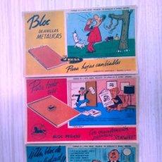 Coleccionismo Papel secante: 3 SECANTES/ PERSONAJES DE LA REVISTA INFANTIL PULGARCITO/ 60'S. Lote 214841118