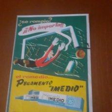 Coleccionismo Papel secante: ANTIGUO SECANTE DE PEGAMENTO IMEDIO. Lote 214996297