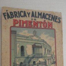 Collectionnisme Papier buvard: ANTIGUO PAPEL SECANTE PUBLICIDAD PIMENTON FELIPE LOPEZ GARCIA.PLASENCIA CACERES.. Lote 217642551