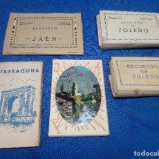 Coleccionismo Papel secante: LOTE DE 5 LIBRITOS TARJETA POSTAL DE TARRAGONA, JAEN, TOLEDO Y ANDORRA.. Lote 218748615