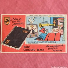 Coleccionismo Papel secante: PAPEL SECANTE - BLOC CENTAURO BLACK - VIÑETA EL DOCTOR CATAPLASMA. Lote 221766456