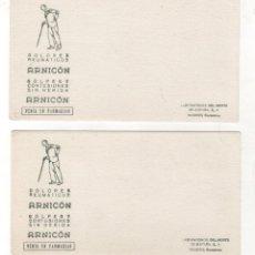Coleccionismo Papel secante: LOTE DE 2 PAPELES SECANTES ARNICON. DOLORES REUMATICOS. C. 1950. Lote 221920683