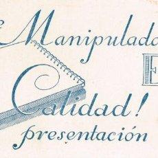 Coleccionismo Papel secante: PAPEL SECANTE PUBLICIDAD MANIPULADOS ENRI CALIDAD! PRESENTACIÓN SECANTE SUPERIOR OBSEQUIO DE LA CASA. Lote 222186072