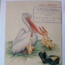 Collectionnisme Papier buvard: PAPEL SECANTE PELIKAN SELLO PAPELERIA HISPANIA MADRID NUEVO. Lote 231454420