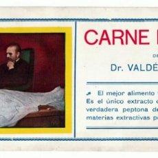 Collezionismo Carta assorbente: ANTIGUO EXTRAÑO PAPEL SECANTE CARNE LÍQUIDA DEL DOCTOR VALDÉS GARCÍA MONTEVIDEO 1ª DÉCADA SIGLO XX. Lote 223898507