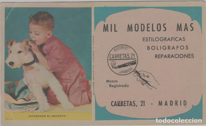 LOTE B- SECANTE PUBLICIDAD ESTILOGRAFICAS BOLIGRAFOS PERRO MADRID 16X10 (Coleccionismo - Papel Secante)