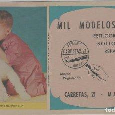 Coleccionismo Papel secante: LOTE B- SECANTE PUBLICIDAD ESTILOGRAFICAS BOLIGRAFOS PERRO MADRID 16X10. Lote 226651375