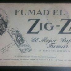 Coleccionismo Papel secante: PAPEL SECANTE PUBLICIDAD ZIG/ZAG PAPEL DE FUMAR. Lote 231413915