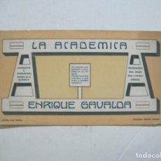 Coleccionismo Papel secante: LA ACADEMICA-ENRIQUE GAVALDA-PAPEKL SECANTE PUBLICIDAD-VER FOTOS-(K-1475). Lote 232222450