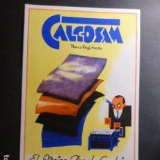 Collezionismo Carta assorbente: CALCOSAM EL MEJOR PAPEL CARBON PUBLICIDAD PAPEL SECANTE 13 X 22 CTMS. Lote 236098480