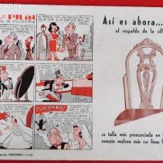 Collectionnisme Papier buvard: SECANTE PUBLICIDAD SILLAS MOCHOLI VALENCIA VIÑETAS PITO Y PILIN ANTIGUO ORIGINAL SJ10. Lote 240889190