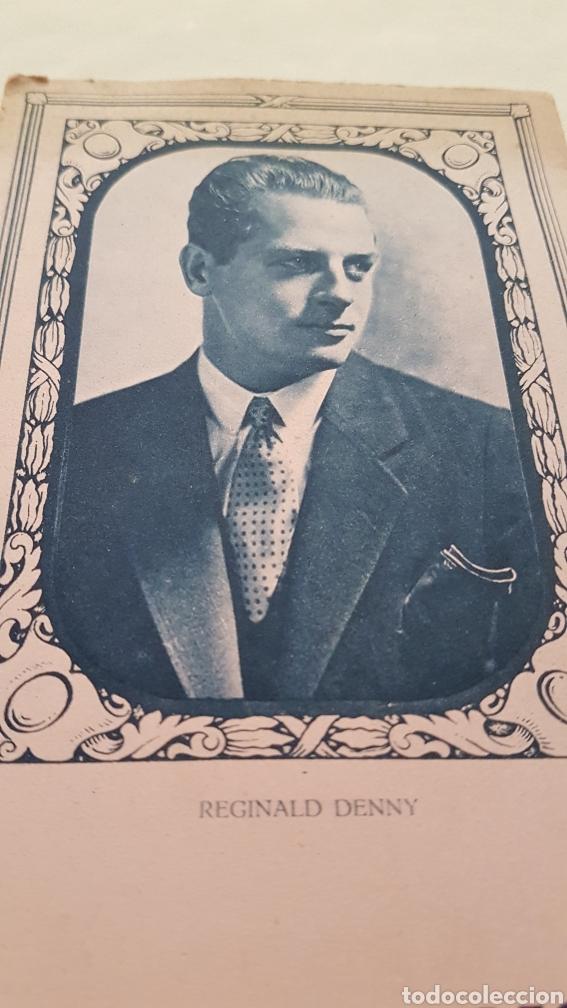 Coleccionismo Papel secante: PAPEL SECANTE ACTOR REGINALD DENNY. CALZADOS IRIS - Foto 2 - 244759715