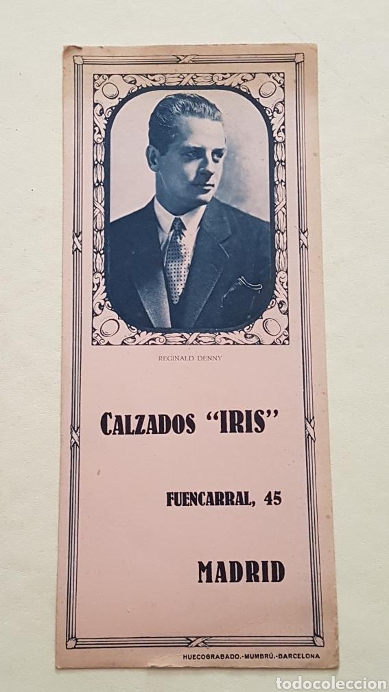 PAPEL SECANTE ACTOR REGINALD DENNY. CALZADOS IRIS (Coleccionismo - Papel Secante)