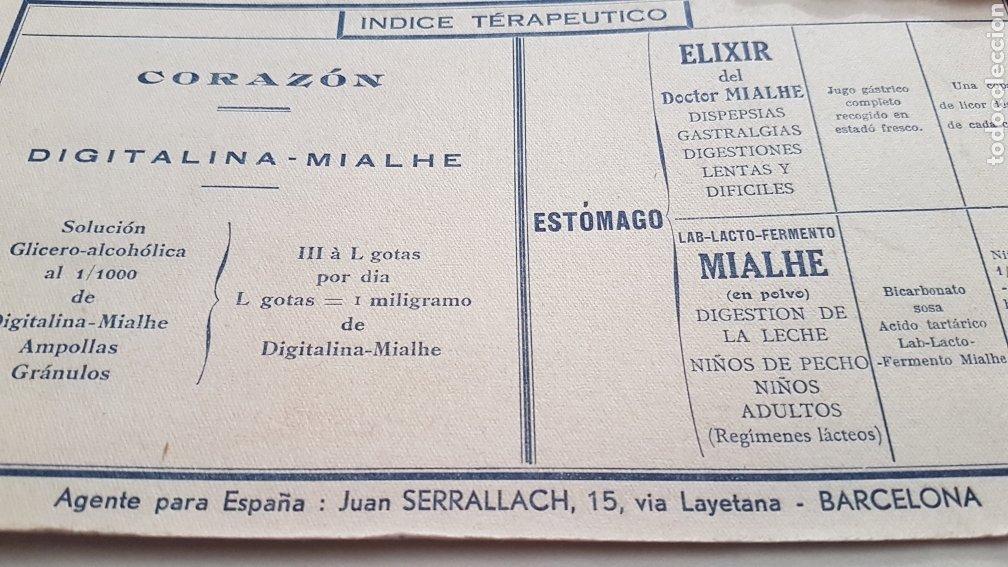 Coleccionismo Papel secante: PAPEL SECANTE ANTIGUO PUBLICIDAD LAVORATORIES MIALHE - Foto 3 - 244764610