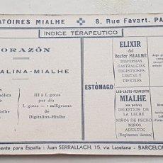 Coleccionismo Papel secante: PAPEL SECANTE ANTIGUO PUBLICIDAD LAVORATORIES MIALHE. Lote 244764610