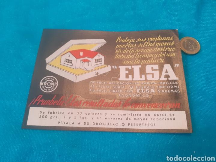 PAPEL SECANTE ELSA 15CMX11CM (Coleccionismo - Papel Secante)