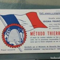 Coleccionismo Papel secante: METODO THIERRY - PUBLICIDAD EN FORMA DE PAPEL SECANTE. Lote 244851380