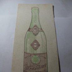 Coleccionismo Papel secante: MAGNIFICO ANTIGUO PAPEL SECANTE CHAMPAN MONTANER,SAN SADURNI DE NOYA. Lote 246794835