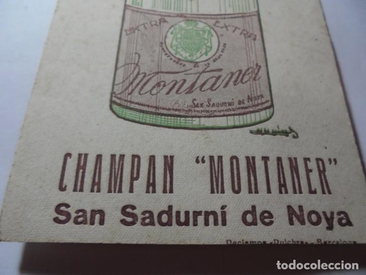 Coleccionismo Papel secante: magnifico antiguo papel secante champan montaner,san sadurni de noya - Foto 2 - 246794835