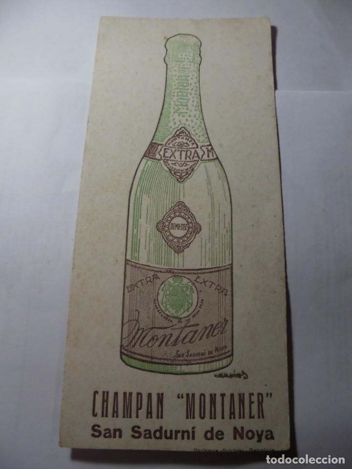 Coleccionismo Papel secante: magnifico antiguo papel secante champan montaner,san sadurni de noya - Foto 6 - 246794835