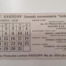Coleccionismo Papel secante: PAPEL SECANTE YOGURT KASDORF 1919. Lote 248359505