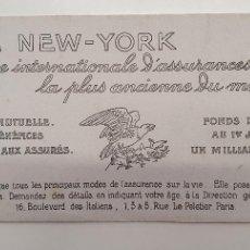Coleccionismo Papel secante: PAPEL SECANTE LA NEW YORK AÑOS 20. Lote 248361435