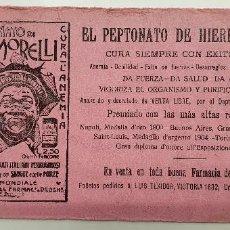 Coleccionismo Papel secante: PAPEL SECANTE PEPTOMATO DE HIERRO MORELLI. Lote 248362225