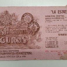 Coleccionismo Papel secante: PAPEL SECANTE COMPAÑIAS DE SEGUROS ARGENTINAS AÑOS 20. Lote 248362625