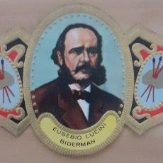Coleccionismo Papel secante: VITOLA EUSEBIO LUCINI BIDERMAN BARCELONA 1814-1881. Lote 256099185