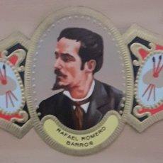 Coleccionismo Papel secante: VITOLA RAFAEL ROMERO BARROS MOGUER HUELVA 1833-1895. Lote 256099300