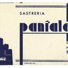 Collezionismo Carta assorbente: PAPEL SECANTE- SASTRERÍA PANTALEONI HNOS. PUBLICIDAD- BARCELONA. Lote 260815295