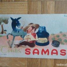 Coleccionismo Papel secante: PAPEL SECANTE TINTA SAMAS. VER FOTOS. Lote 261951655