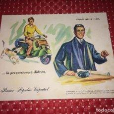 Collectionnisme Papier buvard: BANCO POPULAR - PAPEL SECANTE - AÑOS 50. Lote 263599825
