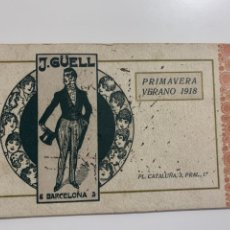 Collectionnisme Papier buvard: PAPEL SECANTE, DÍPTICO, PUBLICIDAD MODA J.GÜELL. PRIMAVERA-VERANO 1918. Lote 265556249